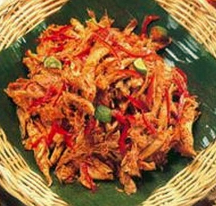 Resep Ayam Suwir Balado