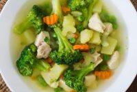 sop brokoli kuah bening