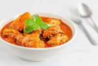 ayam kuah santan pedas