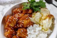Rice Bowl Tahu Pedas Manis dan Kol Goreng