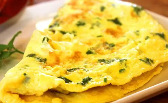 telur dadar keju