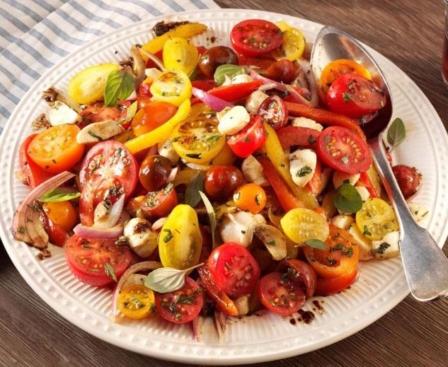 Resep salad sayur panggang dan gandum
