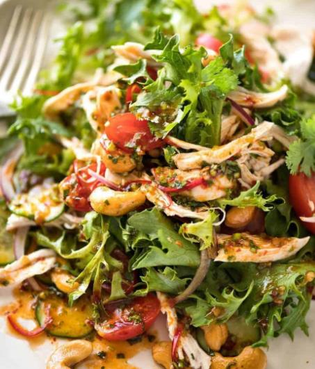 resep salad sayur dengan ayam dan keju