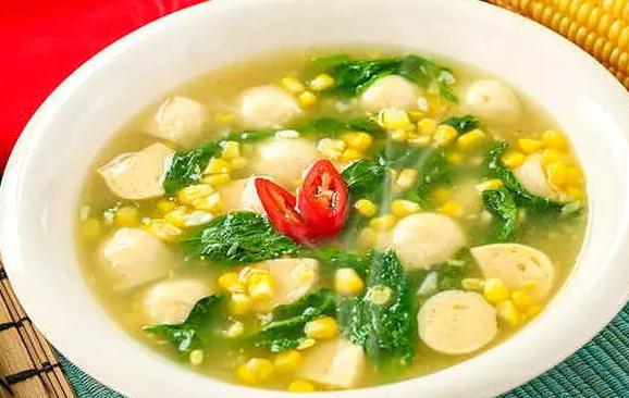 sup bayam jagung